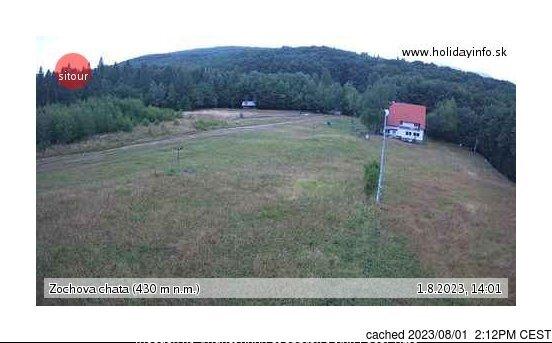 Zochova chata - Piesok webcam at 2pm yesterday