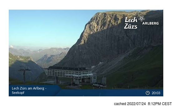 Live Snow webcam for Zurs