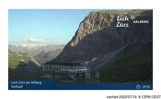 Live snöwebbkamera för Zurs